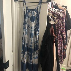 Blue Tie Dye Summer Dress